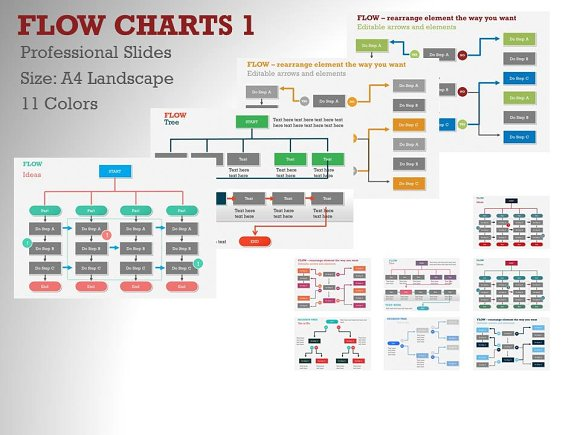 Flow Charts 1 Powerpoint Template Presentation Templates