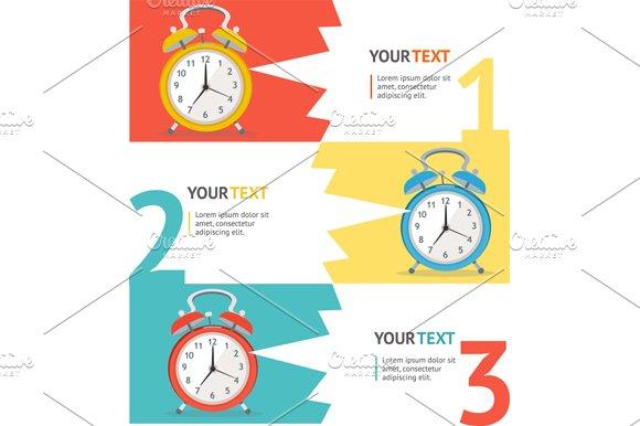 Wake Up Clock Option Banner. Vector - Illustrations