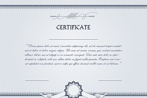 Abstract certificates stationery templates creative market certificate template yelopaper Image collections