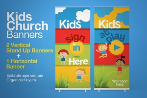 Kids Church Banners