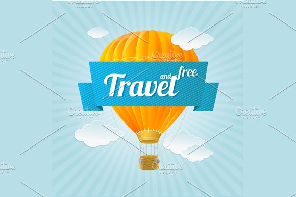 Air Ballon, Travel Concept. Vector - Illustrations