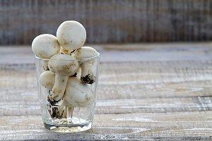 Mushrooms in a glass