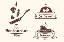 Restaurant and cafe logo badges
