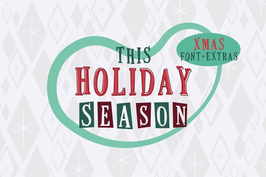 This Holiday Season - Christmas font