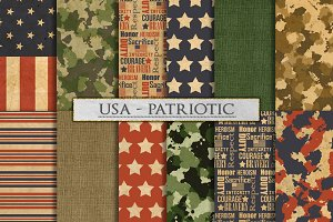 Camouflage and US Patriotic Patterns