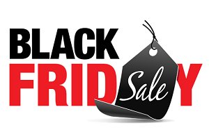 Black Friday Sale with Price Tag