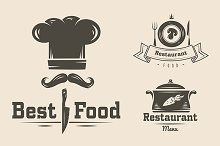 Restaurant and cafe logos