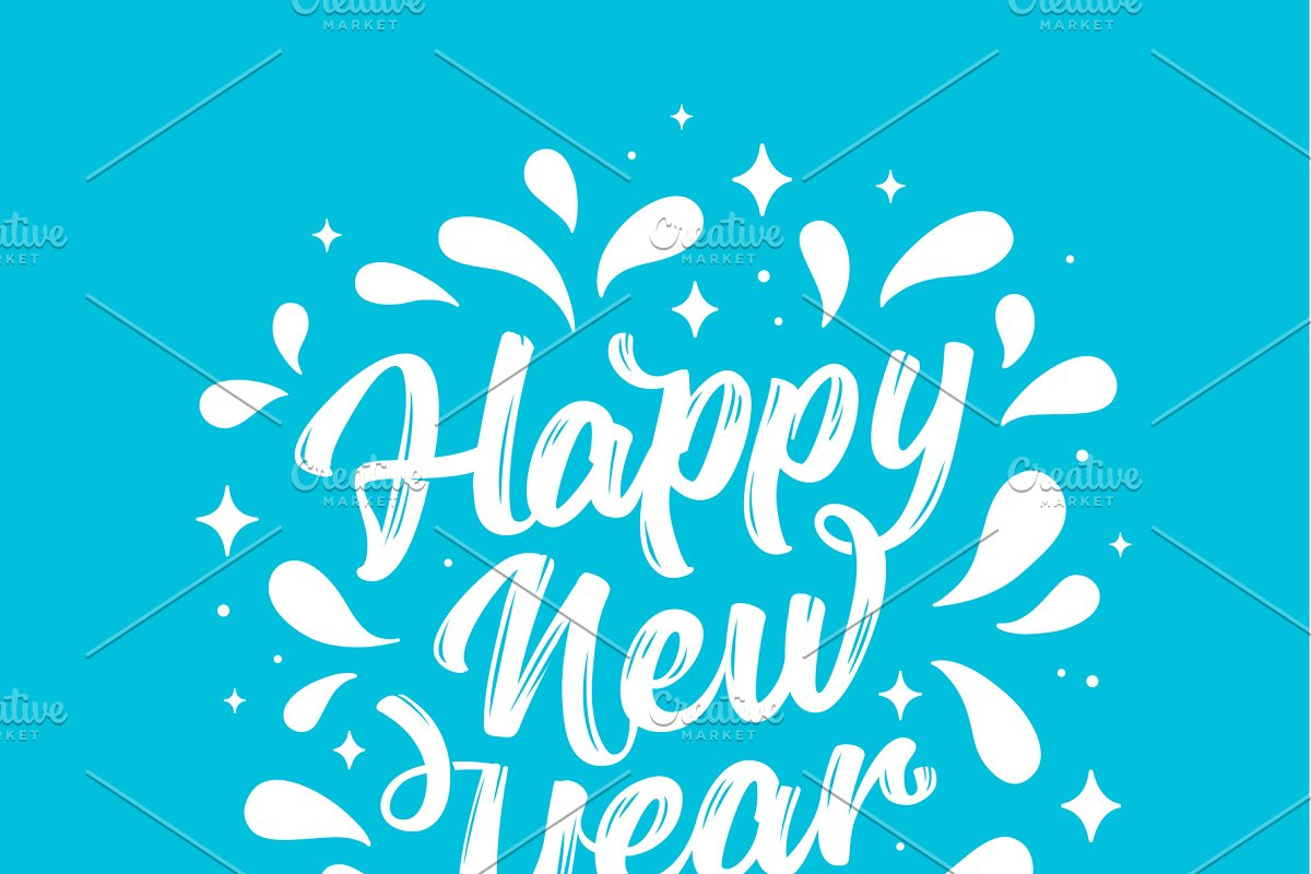Happy New Year Lettering 36
