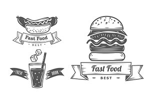 Collection of fast food badge