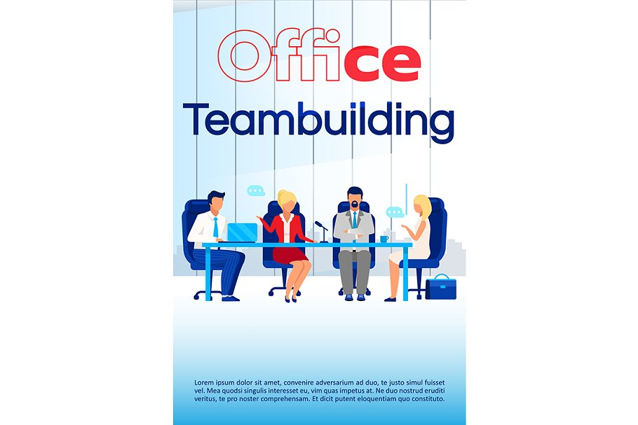 Office team building brochure