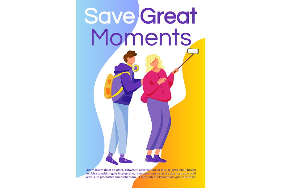 Save great moments brochure in Invitation Templates - product preview 8