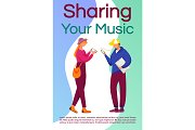 Share your music brochure template