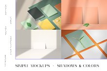 Simple editable mockups + shadows