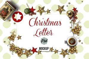 Holidays letter mockup-PSD