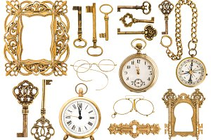 Antique golden accessories JPG
