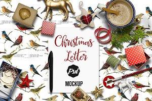 Holidays letter mockup 2-PSD