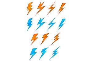 Lightning symbols