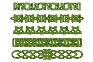 Green celtic ornaments