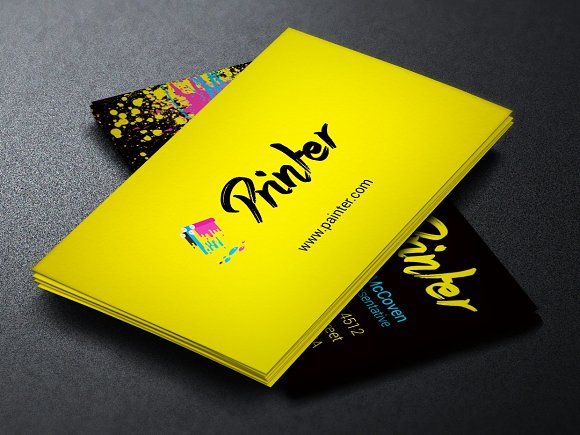 Printer business card template business card templates creative printer business card template business card templates creative market wajeb Choice Image