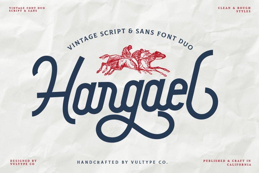 Hargael - Vintage Font Duo