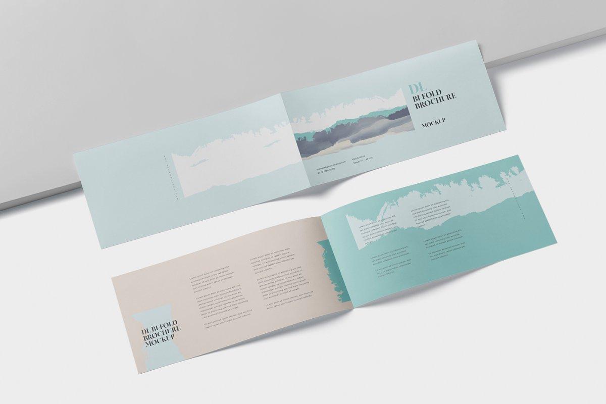 DL Bi-Fold Brochure Mock-Up