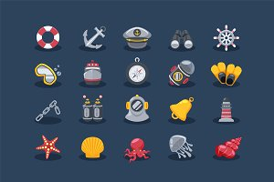 Sea Elements Icons