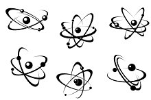 Science and biology atoms symbols