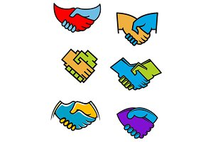 Handshake symbols and icons