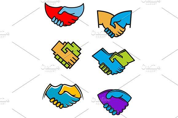 Handshake symbols and icons