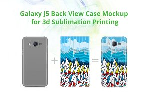Galaxy J5 3d Case Design Mock-up