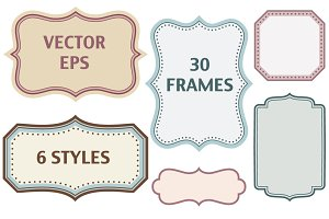30 color frames in 6 styles