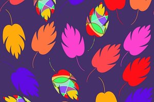 5 Vector floral tile pattern