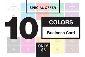 Simple Business Card 10 Colors