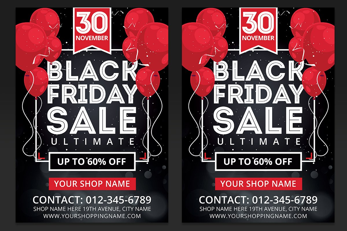 Black Friday Sales Flyer Template