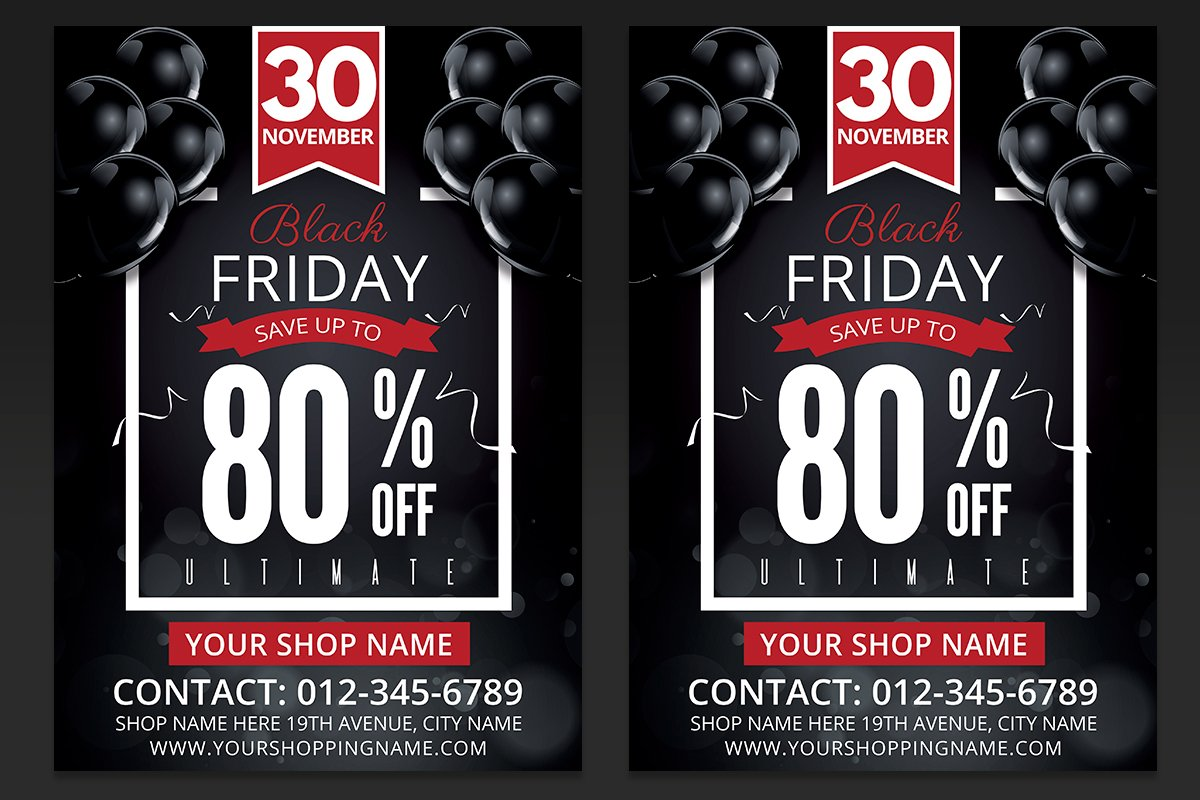 Black Friday Sales Flyer PSD