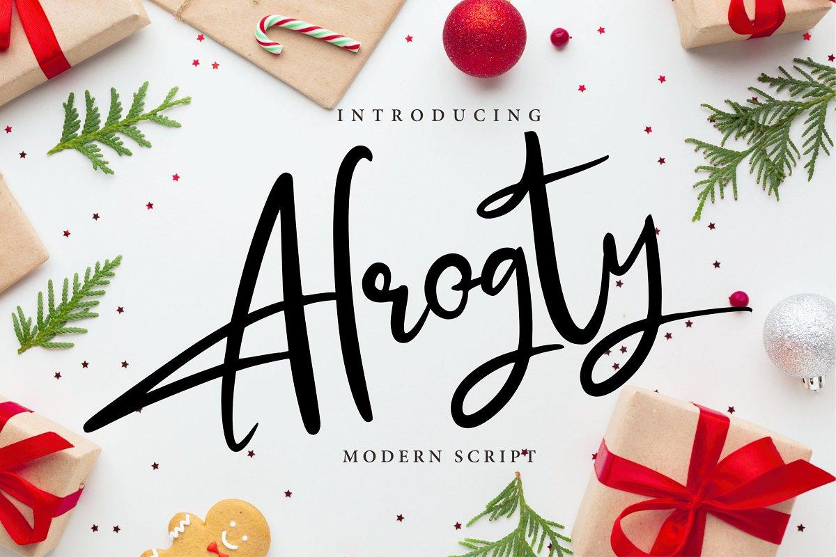 Alrogty | Modern Script Font