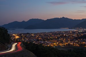 Evening view of Marmaris