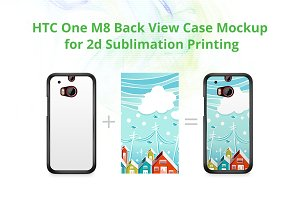 One M8 2d Case Design Mock-up