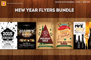 New Year Flyers Bundle V1