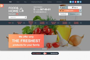 Food & Home – Store Template