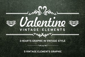 Vintage Elements for Valentine's Day