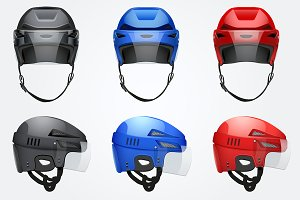 Classic Vector Hockey Helmet Set