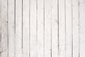 Old white wooden wall