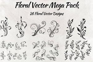 26 Floral Vectors Mega Pack