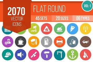 2070 Flat Round Icons (V1)