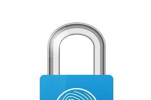 Closed lock icon with fingerprint