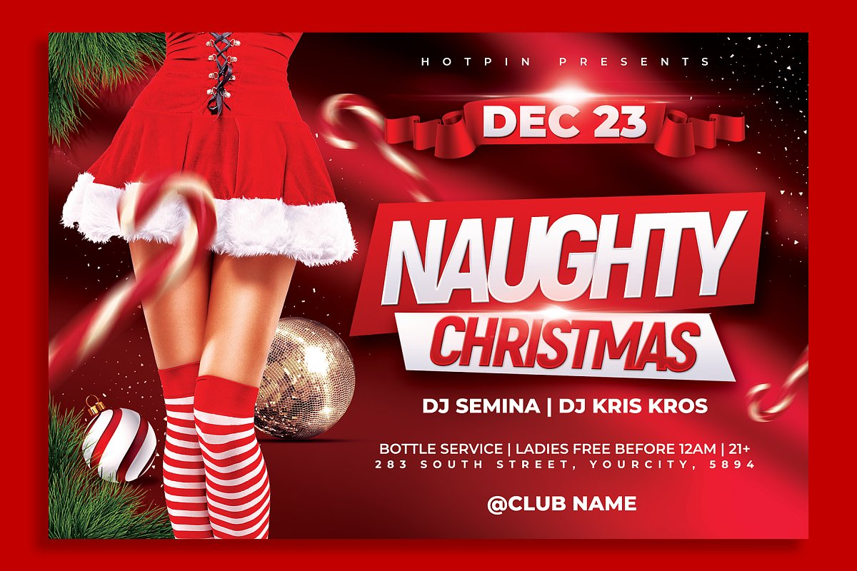 Christmas Party Flyer Template Flyer Templates Creative