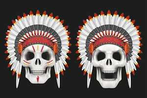 Indian Chief Skull Symbols