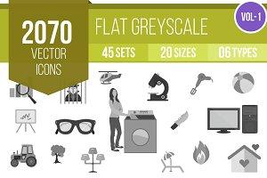 2070 Flat Greyscale Icons (V1)