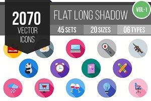 2070 Flat Shadowed Icons (V1)